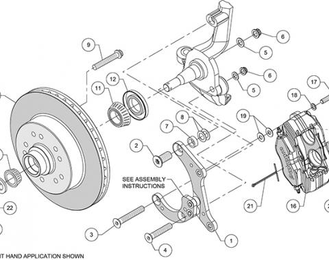 Wilwood Brakes Classic Series Dynalite Front Brake Kit 140-14808-R