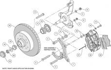 Wilwood Brakes Classic Series Dynalite Front Brake Kit 140-14808-R