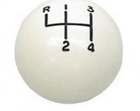 """Classic Headquarters White 4 Speed Ball 3/8"""" W-183A"""