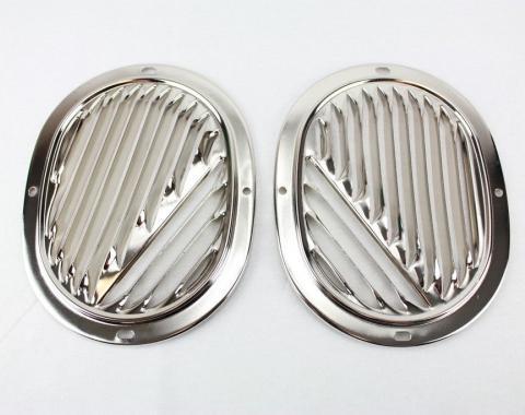Impala Interior Kick Panel Vent Grilles, Pair, 1959-1963