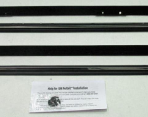 Full Size Chevy Window Felt Kit, 4 Door Wagon, 1971-1976