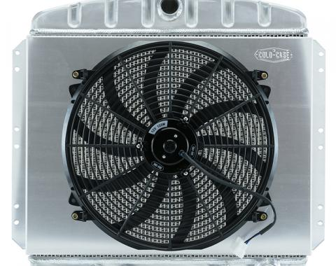 Cold Case Radiators 49-54 Chevy Car Aluminum Performance Radiator and 16 Inch Fan Kit CHT569AK