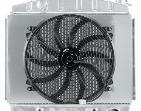 Cold Case Radiators 57 Tri-5 Chevy Aluminum Performance Radiator And 16 Inch Fan Kit 6 Cyl (Front Mount) CHT563A-7K