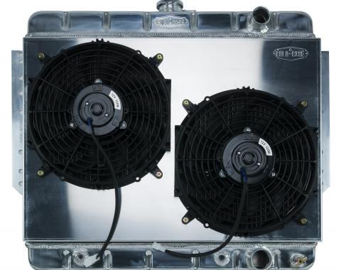 Cold Case Radiators 61-65 Impala Aluminum Radiator and Dual 12 Inch Fan Kit Stamped CHI565AK