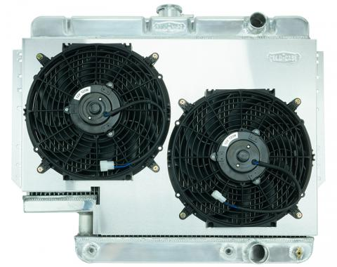 Cold Case Radiators Impala Radiator 61-65 Impala 500 Box Aluminum Performance Radiator and Dual 12 Inch Fans Kit CHI565A-5K