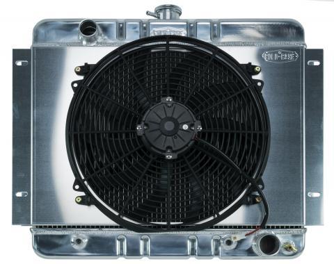 Cold Case Radiators 62-67 Chevy Nova Aluminum Radiator And 16 Inch Fan Kit AT CHN540AK