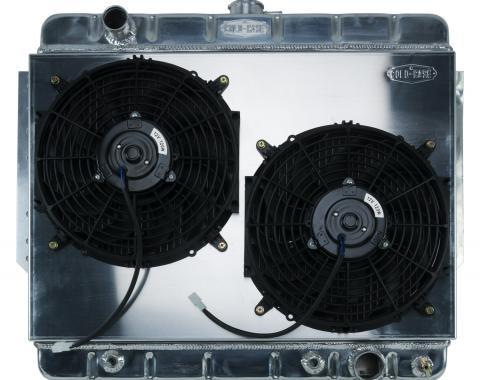 Cold Case Radiators 66-68 Impala Aluminum Radiator and Dual 12 Inch Fan Kit Stamped CHI566AK