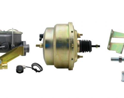 Full Size Chevy Power Booster Dual Master Cylinder Conversion Kit, For Disc/Drum Brakes, With GM Proportioning Valve, 1965-1968