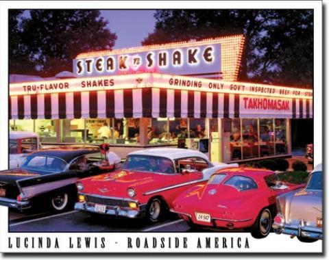 Tin Sign, Lewis - Steak n Shake