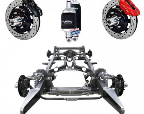 "Chevy Custom Modern Chassis, Ridetech ShockWave & 13"" Wilwood Brake Upgrade, 1955-1957"