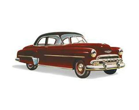 Chevy Windshield, Business Coupe, Sport Coupe And Styleline 2 & 4-Door, Sedan, Left, 1949-1952