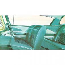 Full Size Chevy Seat Cover Set, 2-Door Hardtop, Bel Air, 1958