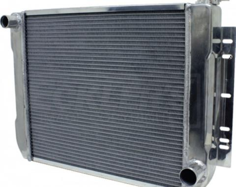 Full Size Chevy Aluminum Radiator, Automatic Transmission, Matte Finish, 1959-1972
