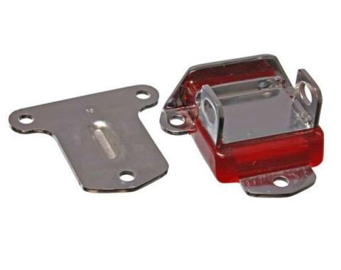 Chevy Motor Mount, Urethane, Zinc Plated, Chrome, 1955-1957