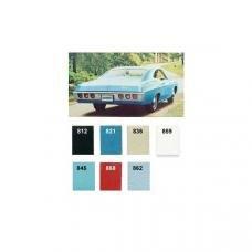 PUI 1968 Chevrolet Impala Preassembled Rear Door Panels, Coupe/Fastback 68BDNCP