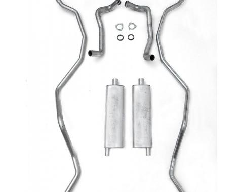 Full Size Chevy Dual Aluminized Exhaust System, High Performance, 327ci, 1962-1964