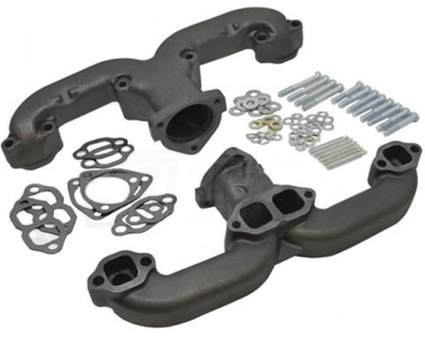 """Early Chevy Small Block """"Rams Horn"""" Exhaust Manifolds, 2.5"""", 1949-1954"""