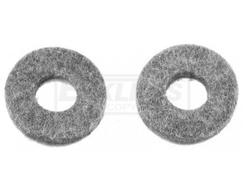 Full Size Chevy Clutch Cross Shaft Felt Washers, 1962-1975