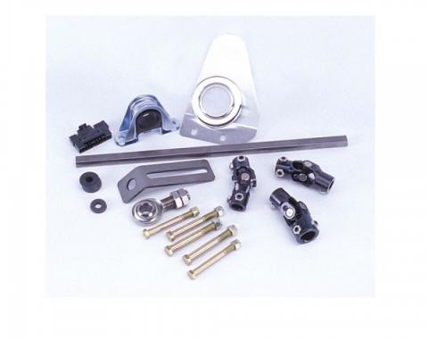 Flaming River 1957 Chevy Manual Rack & Pinion Cradle Kit - Paintable Floor Shift Tilt Column