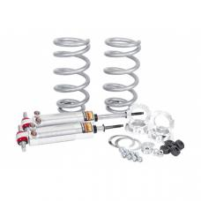 Chevy Shocks, Front, Coil-Over Dual Adjustable, 350 Lbs Spring Rate, Flaming River, 1955-1957
