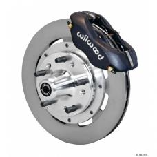 Chevy Wilwood Front Disc Brake Kit, Black Anodize Caliper,Plain Face Rotor,11.75, Forged Dynalite Pro Series 1955-1957