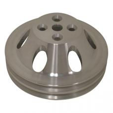 Chevy Big Block Aluminum Water Pump Pulley, Small Water Pump, 2 Groove