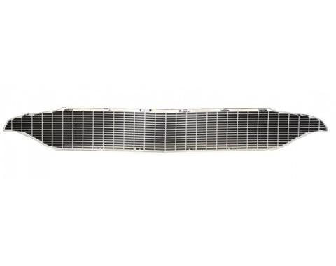 Chevy Chrome Grille, Custom For Smoothie-Style Bumper w/Grille Bar Delete, 1957