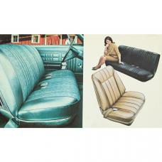 Full Size Chevy Seat Cover Set, Bench Cloth, 2-Door Hardtop, Impala, 1968