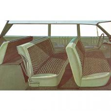Full Size Chevy Seat Cover Set, 6-Passenger, Bel Air Wagon,1963
