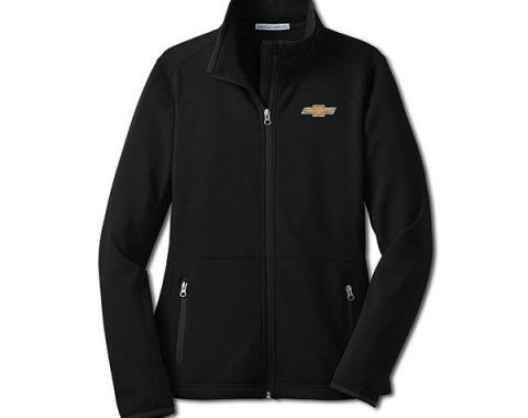 Chevy Jacket, Ladies, Zippered Pique Fleece, Black