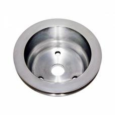 Chevy Small Block Aluminum Crankshaft Pulley, Long Water Pump, 1 Groove