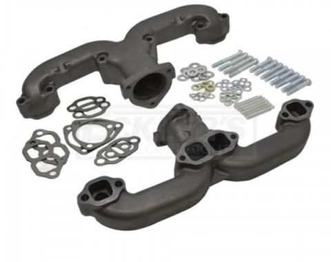 """Chevy Small Block """"Rams Horn"""" Exhaust Manifolds, 2.5"""", 1955-1957"""