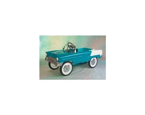 Pedal Car, All Steel, Turquoise, White