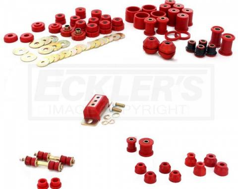 Full Size Chevy Total Bushing Kit, Polyurethane, Impala Convertible, 1965-1970