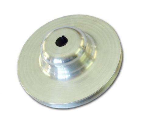 Chevy Power Steering Pump Pulley, Single Groove, Aluminum, 1955-1957