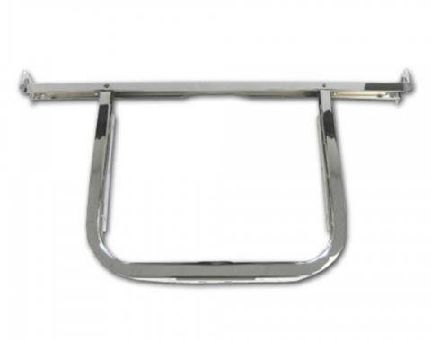 Classic Chevy - Radiator Support With Upper Bar, Chrome, 6 Cylinder, 1956