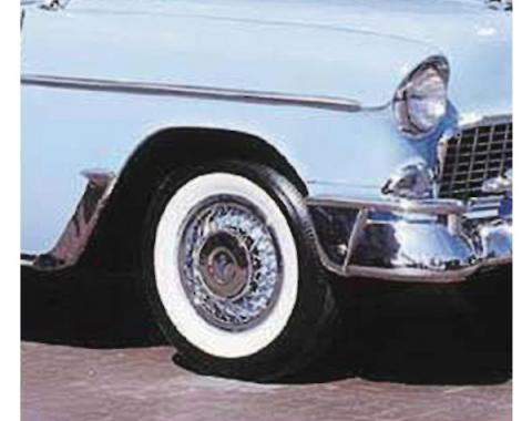 Early Chevy Tire, 6.70 x 15, B.F. Goodrich Silvertown, With2-1/2'' Whitewall,Bias Tires, 1949-1954