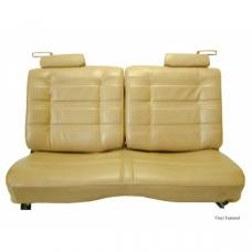 Malibu Seat Cover, Front Straight Bench With 50/50 Split Back, Head Rests, Vinyl With Velour, Horizonal Pleats, 1978-1980