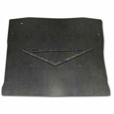 Chevy Under Hood Cover, Quietride AcoustiHOOD, 3-D Molded, With Logo, 1957