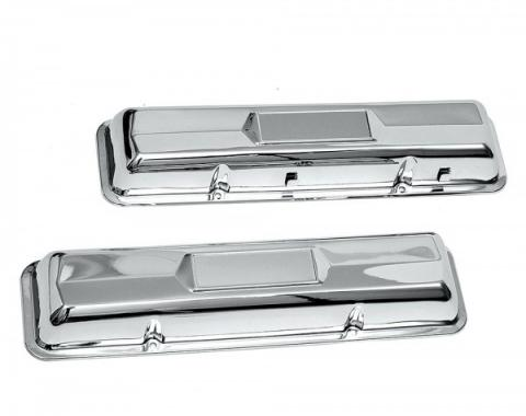 Full Size Chevy Valve Covers, Small Block, Chrome, 1958-1964