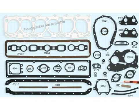 Early Chevy Engine Gasket Set, 235 CI, 1950-1952