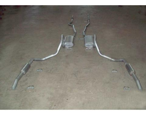 Late Great Chevy - Dual Exhaust System, Small Block With Resonators, Except Station Wagon, 1965-1968