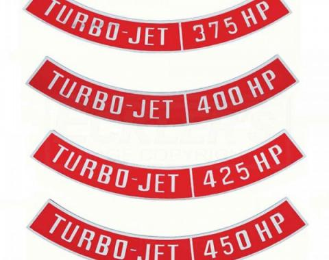 Chevy Air Cleaner Emblem, Turbo Jet, 1955-1957