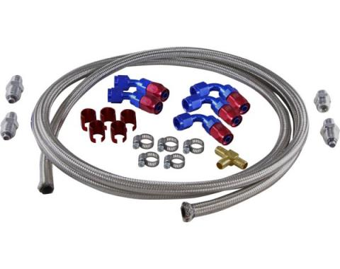 Chevy Hydroboost Hose Kit, With 605, 670 Steering & Saginaw Pump, 1955-1957