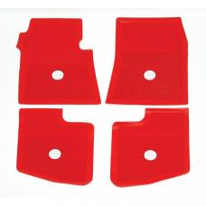 Full Size Chevy Floor Mats, Accessory, Bright Red, 1961-1962