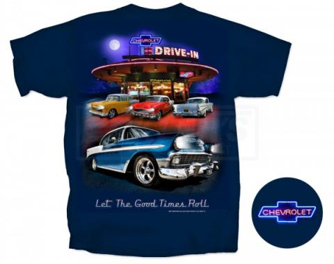 Chevy, T-Shirt, Nighttime Drive-In