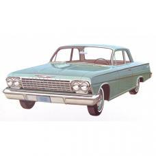 Full Size Chevy Seat Cover Set, 2-Door Sedan, Biscayne, 1962