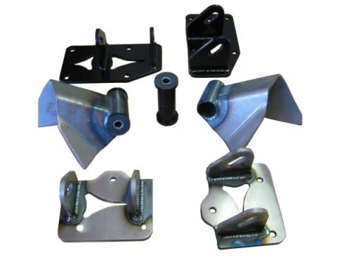 Chevy New Style LS Engine Mount Kit, 1955-1957