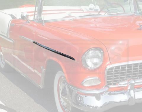 Chevy Front Fender Molding, Bel Air, Right, Show Quality, 1955