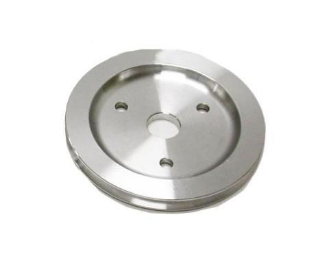 Chevy Small Block Aluminum Crankshaft Pulley, Small Water Pump, 1 Groove